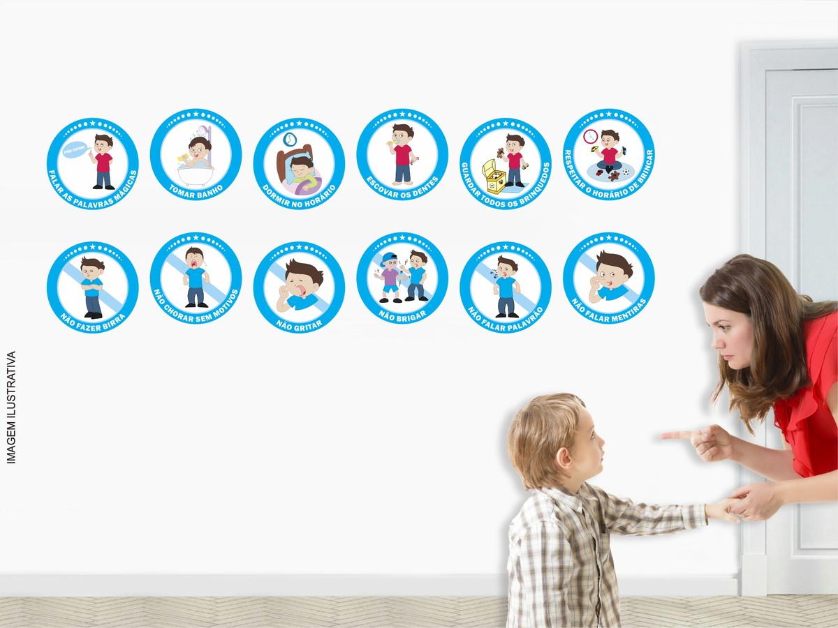 Suficiente Regras de Educação Infantil 12 Adesivos no Elo7 | Decorar e  ZJ42