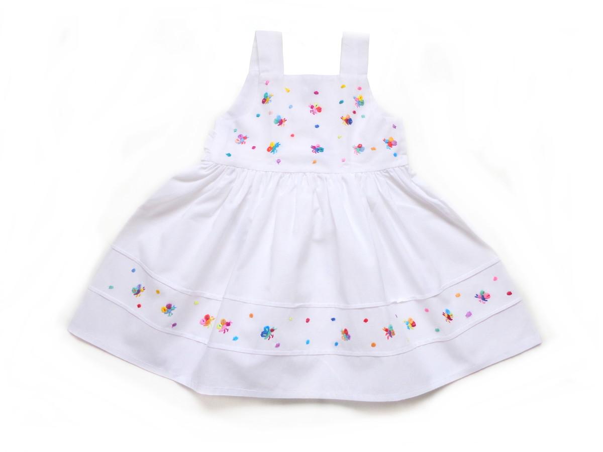 473b717d9b Vestido Infantil nr.2 Bordado no Elo7