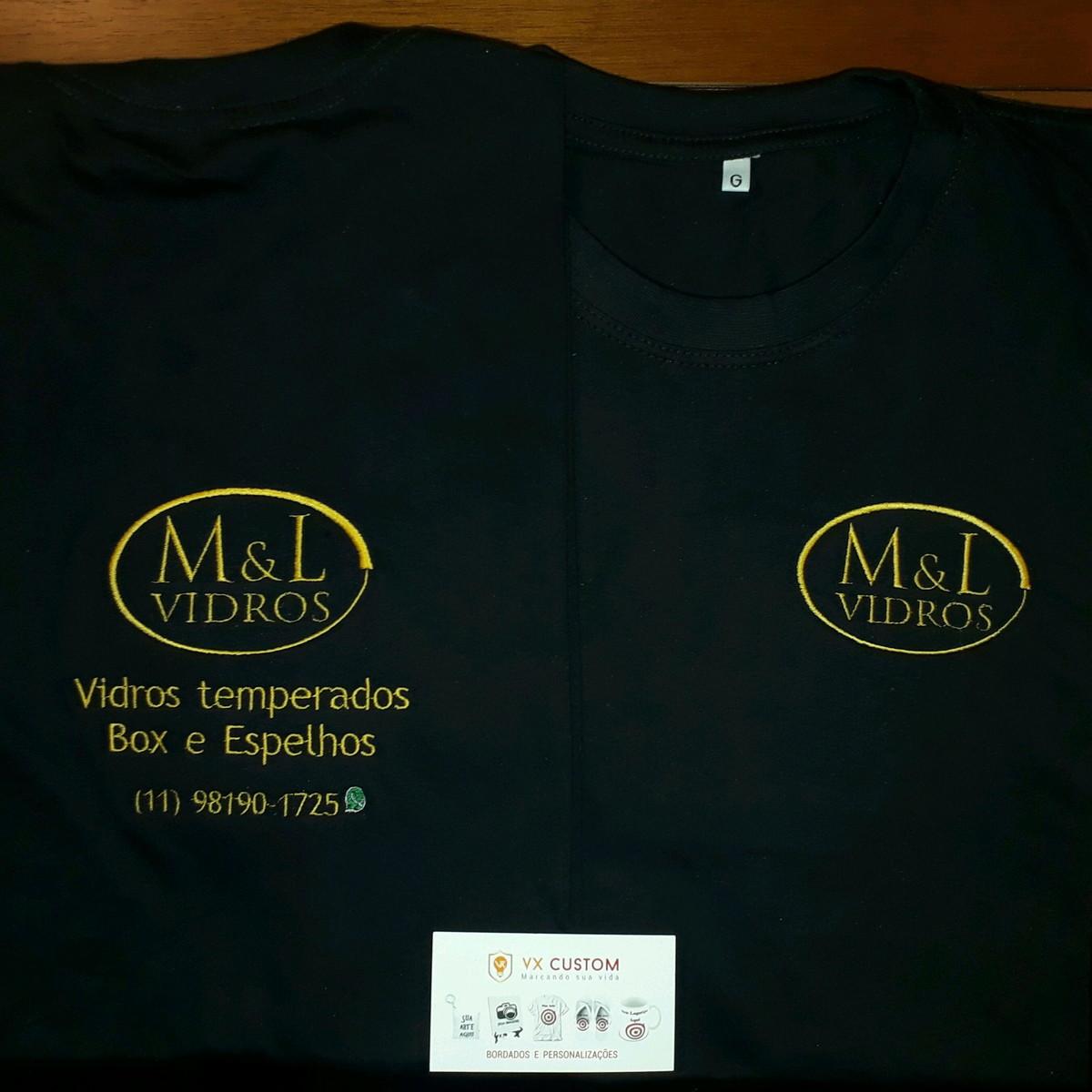 66fb93d533 Camiseta uniformes para empresas bordados no Elo7