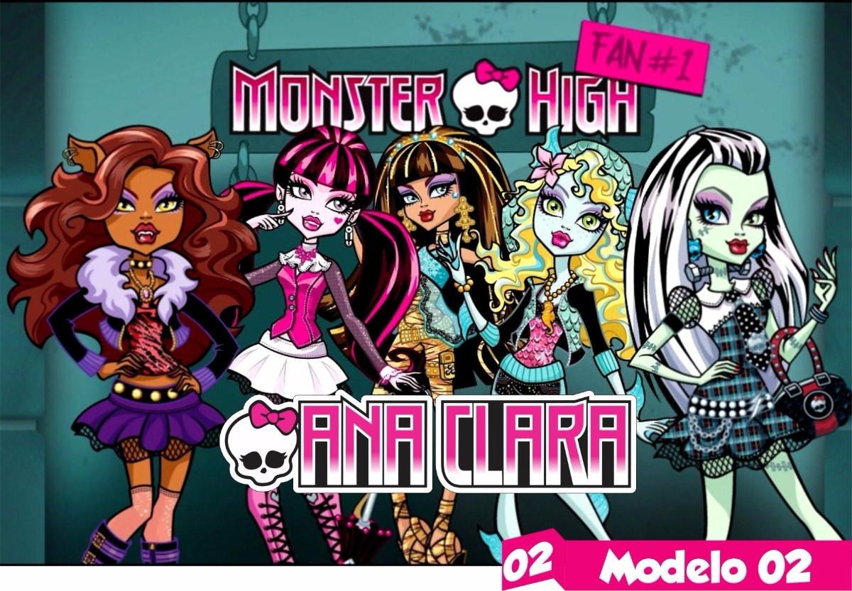Monster High Painel Lona Festa Aniversario Lindo Hd Nome No Elo7