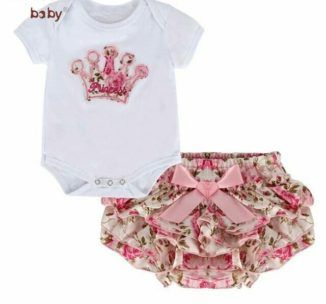 ed13c194b8 Conjunto Bebê Menina 2 Peças Body e Shorts no Elo7