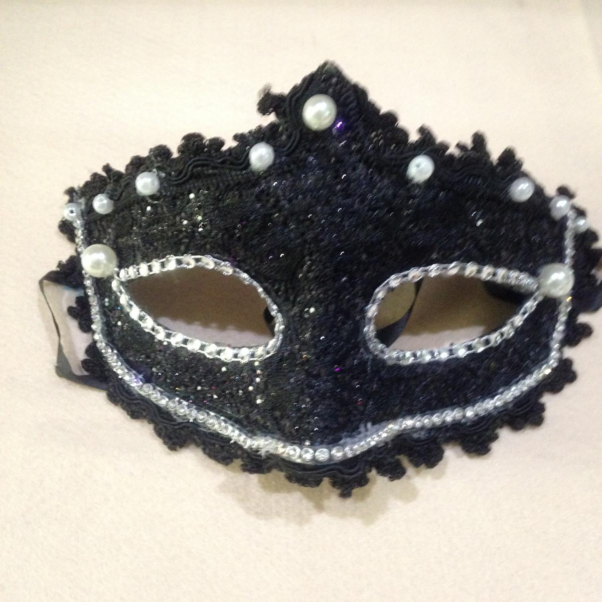 7266fdd16038e Mascara de luxo para carnaval baile no Elo7   Chá de Mar (B2AF99)