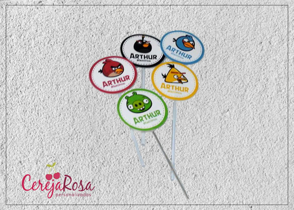 Toppers Personagens Angry Birds: Topper Angry Birds No Elo7