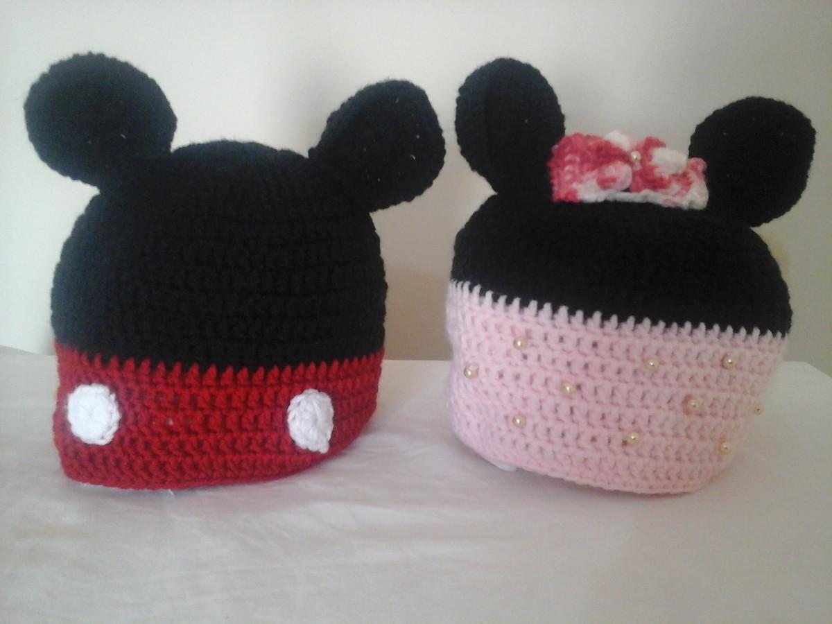 a8d377911cb7c Touca ou Gorro infantil em crochê Mickey ou Minnie no Elo7 ...
