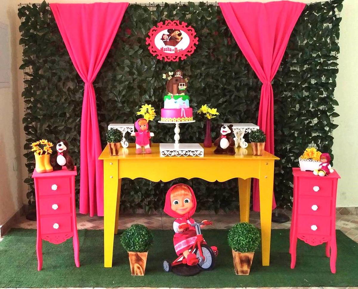 Decoração De Festa Masha E Urso No Elo7 Rede Festas Decorações
