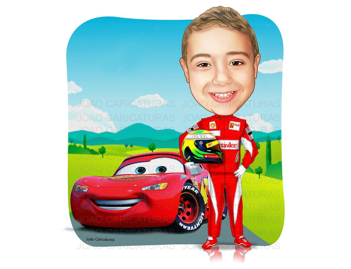 Populares Caricatura de Aniversário criança carros Mc Queen | João  JI86