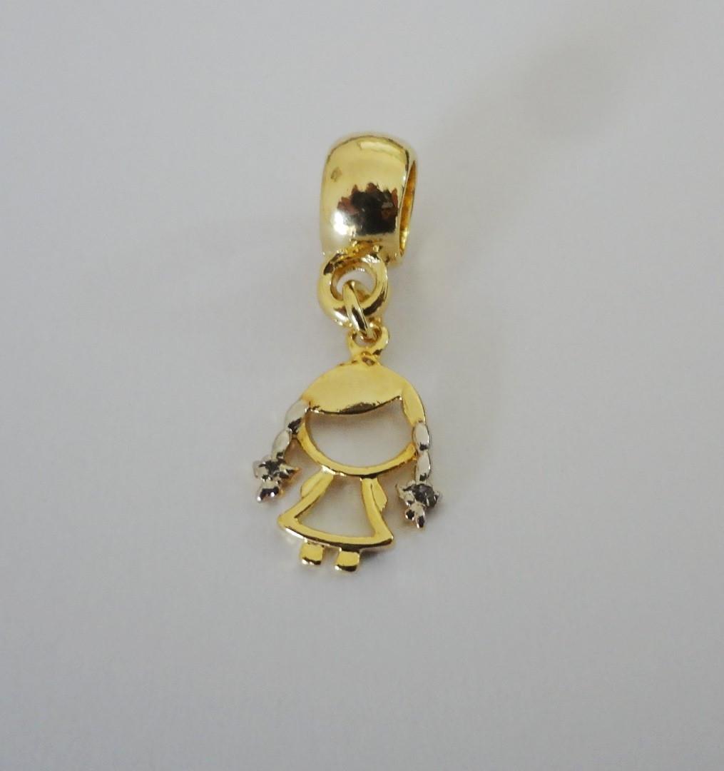 Berloque Folheado a ouro - Menininha no Elo7   Pedra do Sol - Arte e ... e8f919713e