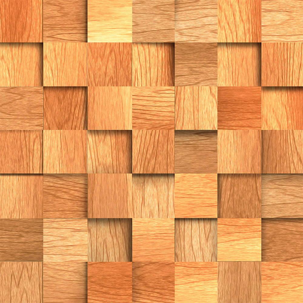 Papel de parede madeira cubos r stico 3m no elo7 qcola for Papel de pared rustico