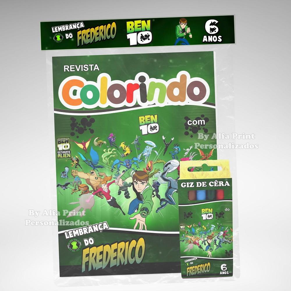 Kit Colorir Ben 10 Brindes No Elo7 Alfa Print Personalizados