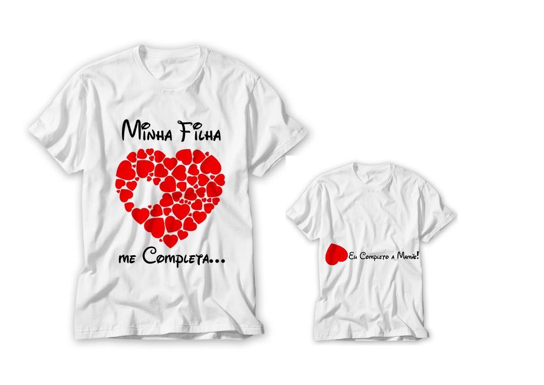 97f7a75f0c78c Kit 2 Camisetas personalizadas Mãe e Filha! no Elo7