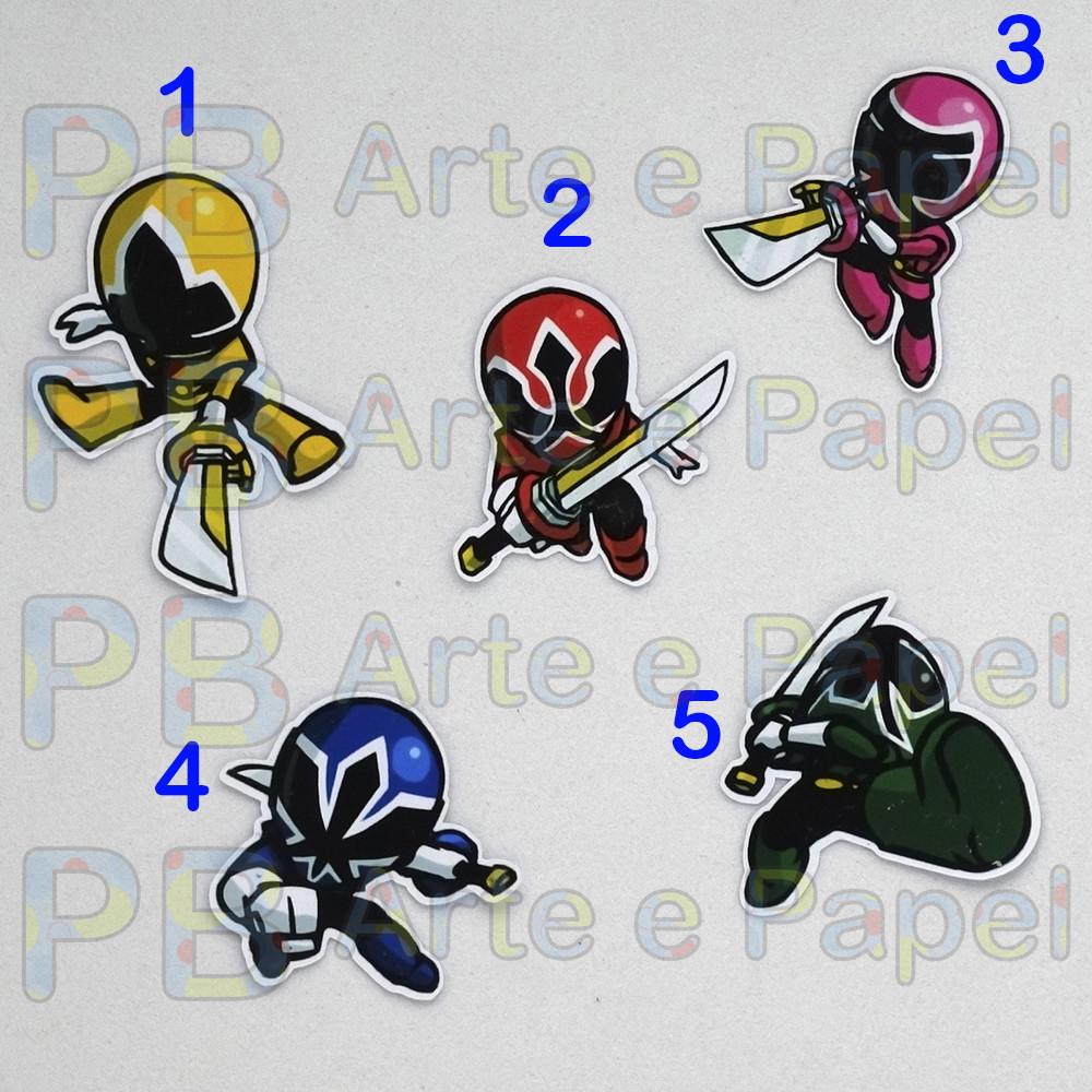 47fa40e2ab6 Aplique Topper Recorte Power Rangers Samurai 5cm no Elo7