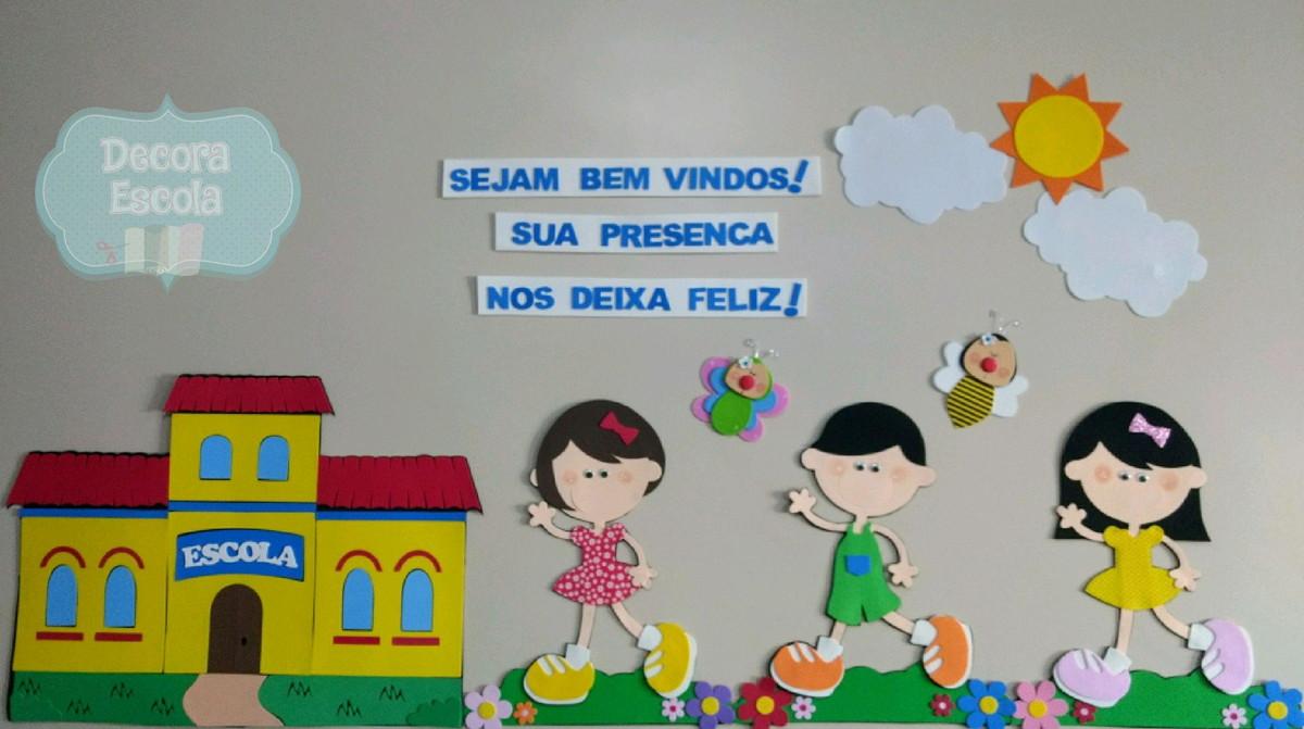 Painel Grande De Parede Boas Vindas No Elo7 Decora Escola B3268f