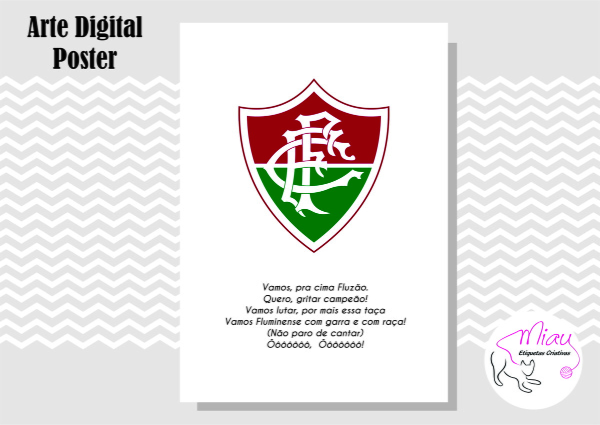 4633643ca1 POSTER FLUMINENSE - ARTE DIGITAL no Elo7