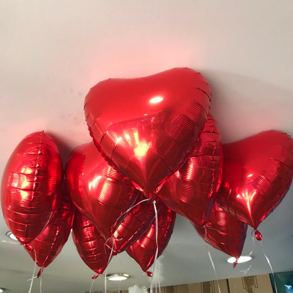 8b3be4e94 Balões Coração Vermelho Metalizado no Elo7