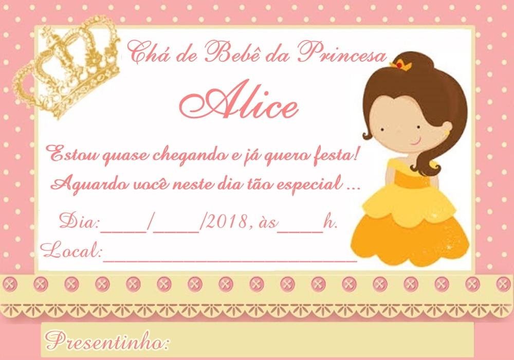 Convite Chá De Bebe Coroa No Elo7 Acriativa Presentes 7cdcfb
