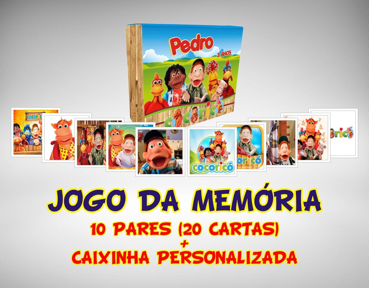 afb305ebf3 Jogo da Memória Cocoricó no Elo7