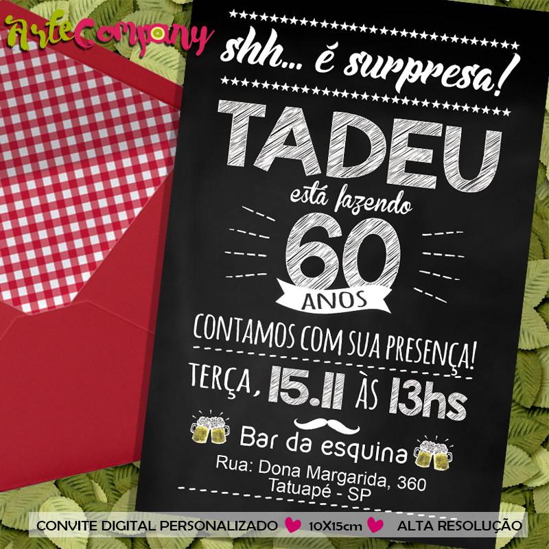 Convite Aniversário Festa Surpresa No Elo7 Artecompany B3a29d