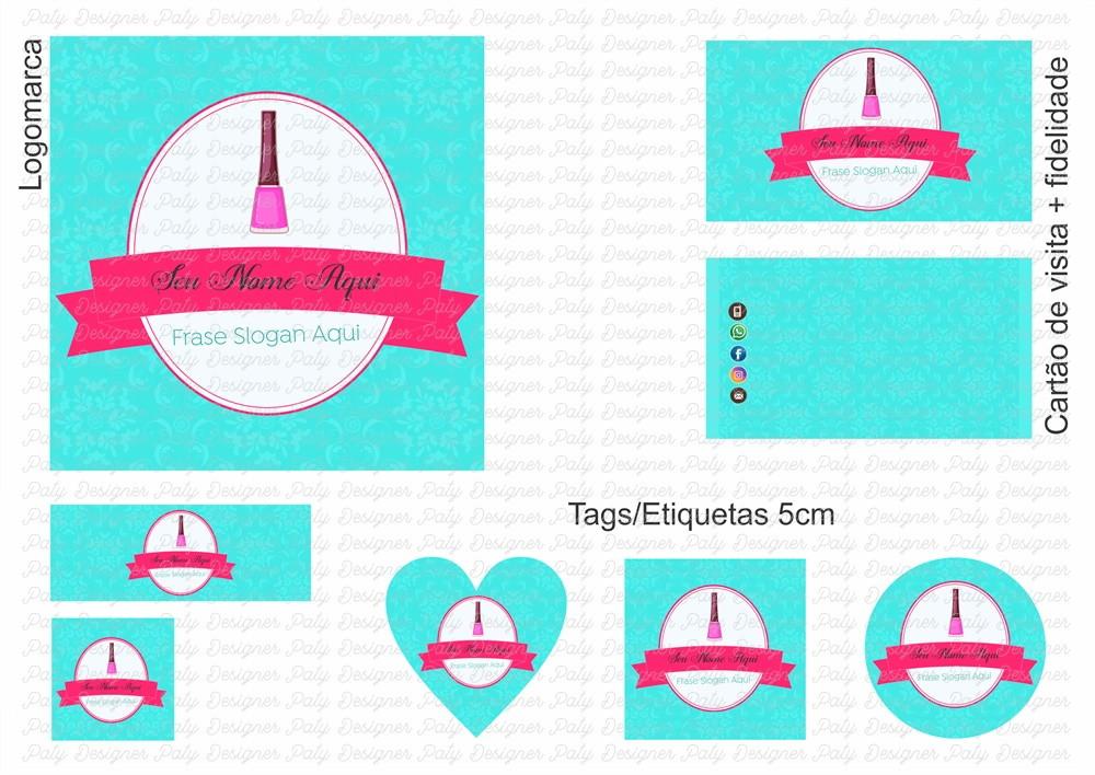 Identidade Visual Para Esmalteria Salão De Beleza No Elo7 Paty