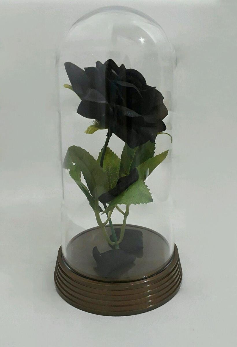 Cupula Redoma Rosa Negra A Bela E A Fera No Elo7 Amor Lindo