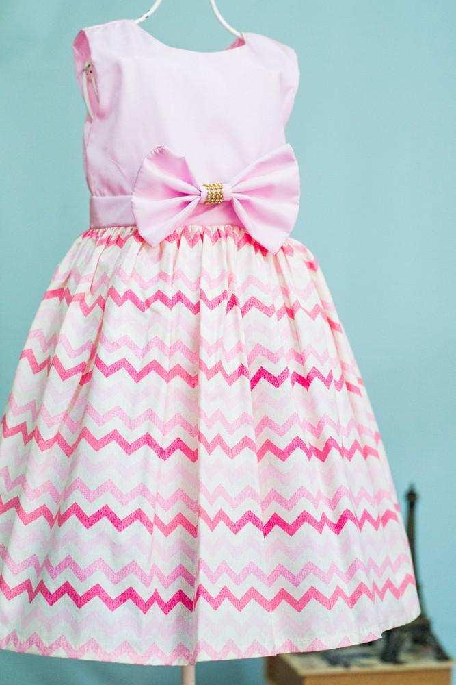 3bd30c4cff Vestido Infantil Festa Listrado no Elo7
