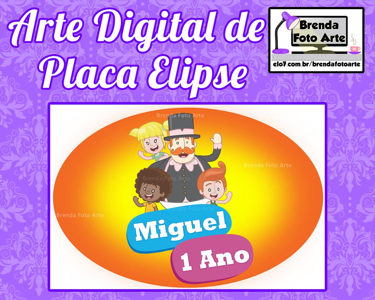 Arte Digital Placa Elipse Mundo Bita no Elo7  cb7f1a47703d7