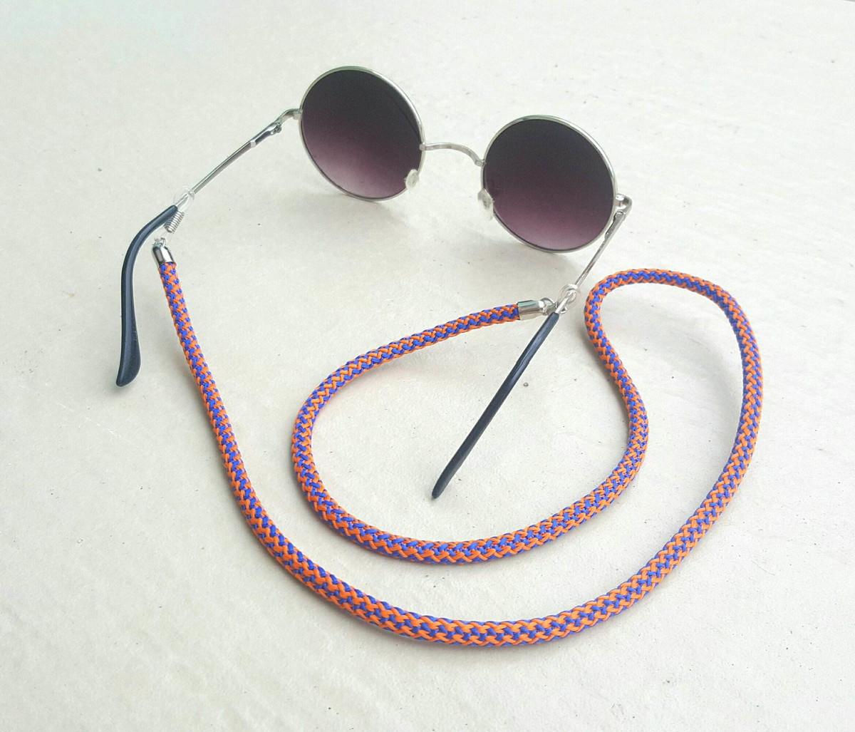 Salva Óculos (Laranja Azul) no Elo7   Anellus Acessórios (B42A25) 920c263d03