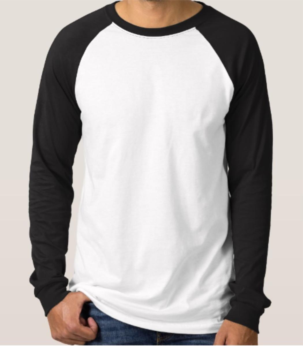 4fd4dbae6d Camisa raglan manga colorida longa INFANTIL no Elo7