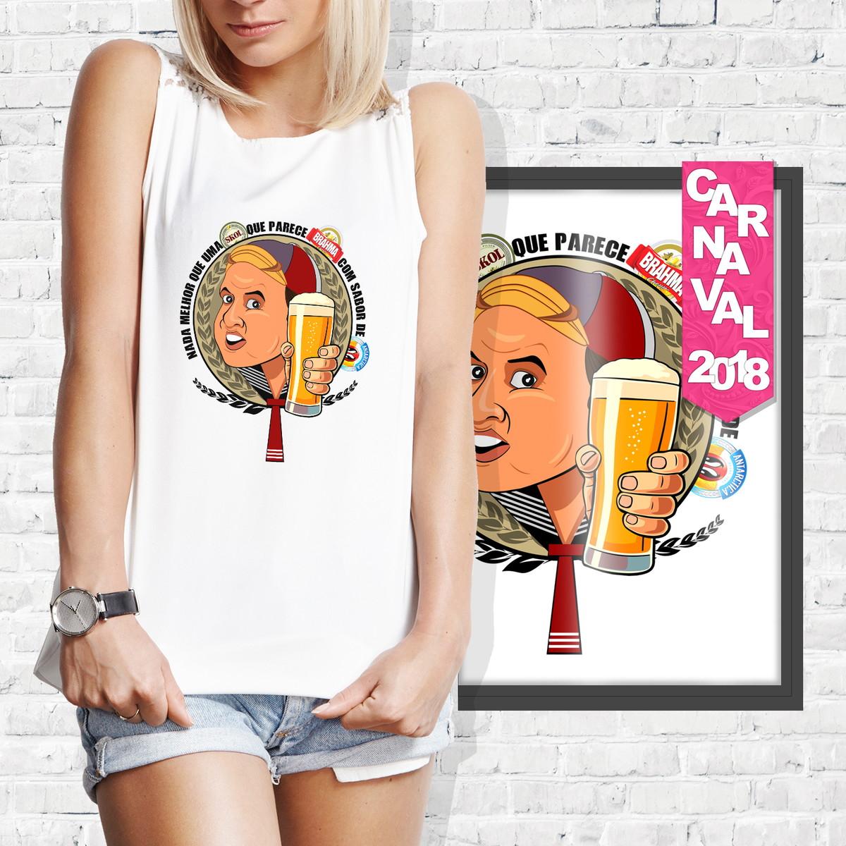 Camiseta Kiko Cervejas Carnaval no Elo7  572d3c48f3f31
