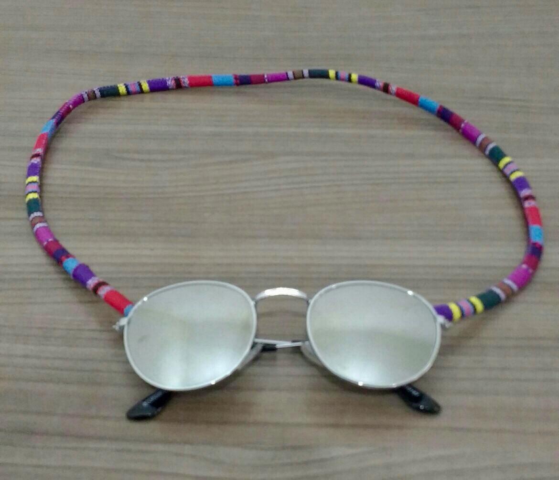 0efe4f2e50686 Cordinha de óculos étnica colorida no Elo7