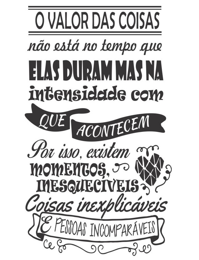 Adesivo Decorativo De Parde Frase O Valor Das Coisas No Elo7