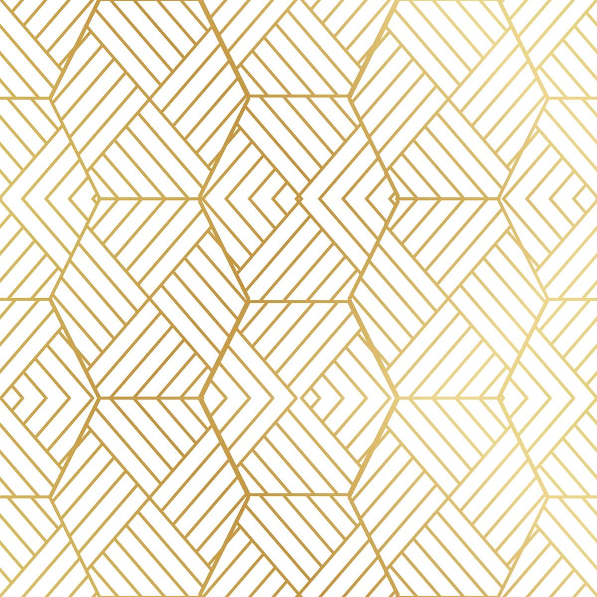 Adesivo papel de parede geom trico dourado escolha a cor - Papel de pared de rayas ...