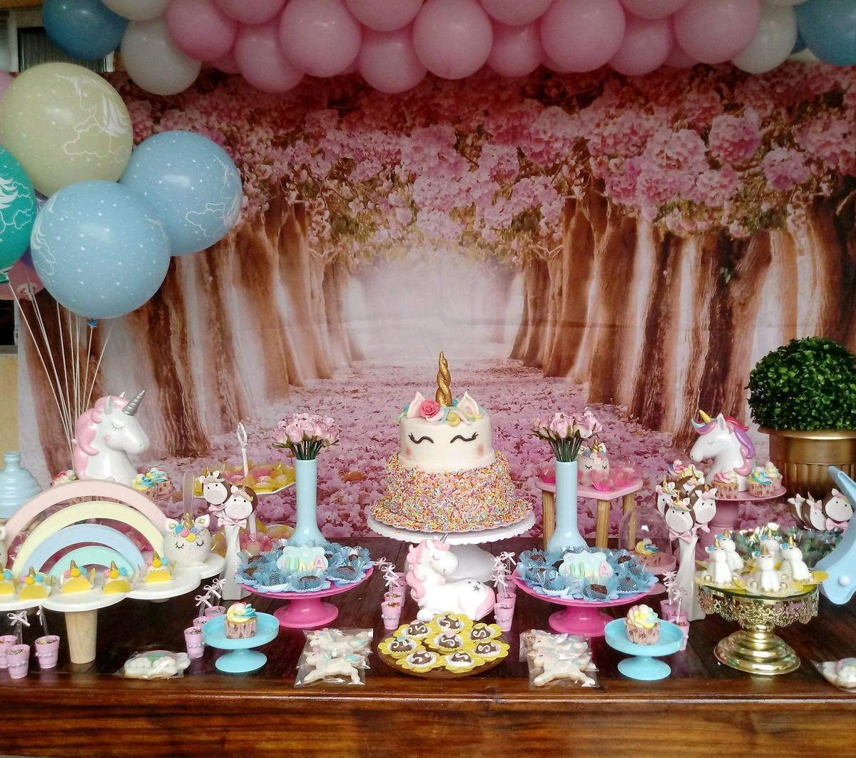 Festa unicornio no Elo7 Atelier Mirucha Flore Cake designer (B481C3) -> Decoracao De Unicornio Infantil