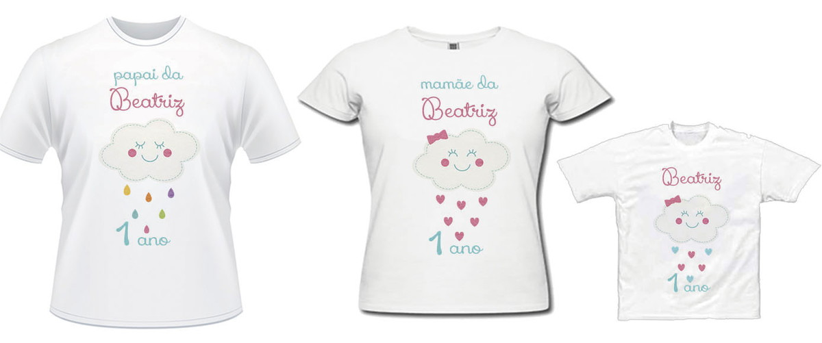47f9fe405 Kit camisas Aniversário- Chuva de Amor   Chuva de Bênçãos no Elo7 ...