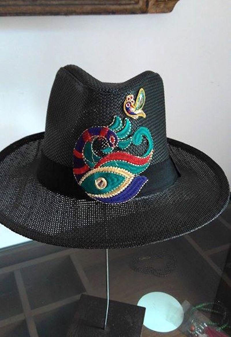 Chapéu Palha Panama Natural Patch Etnico Boho Chic Unisex no Elo7 ... f283917c48a