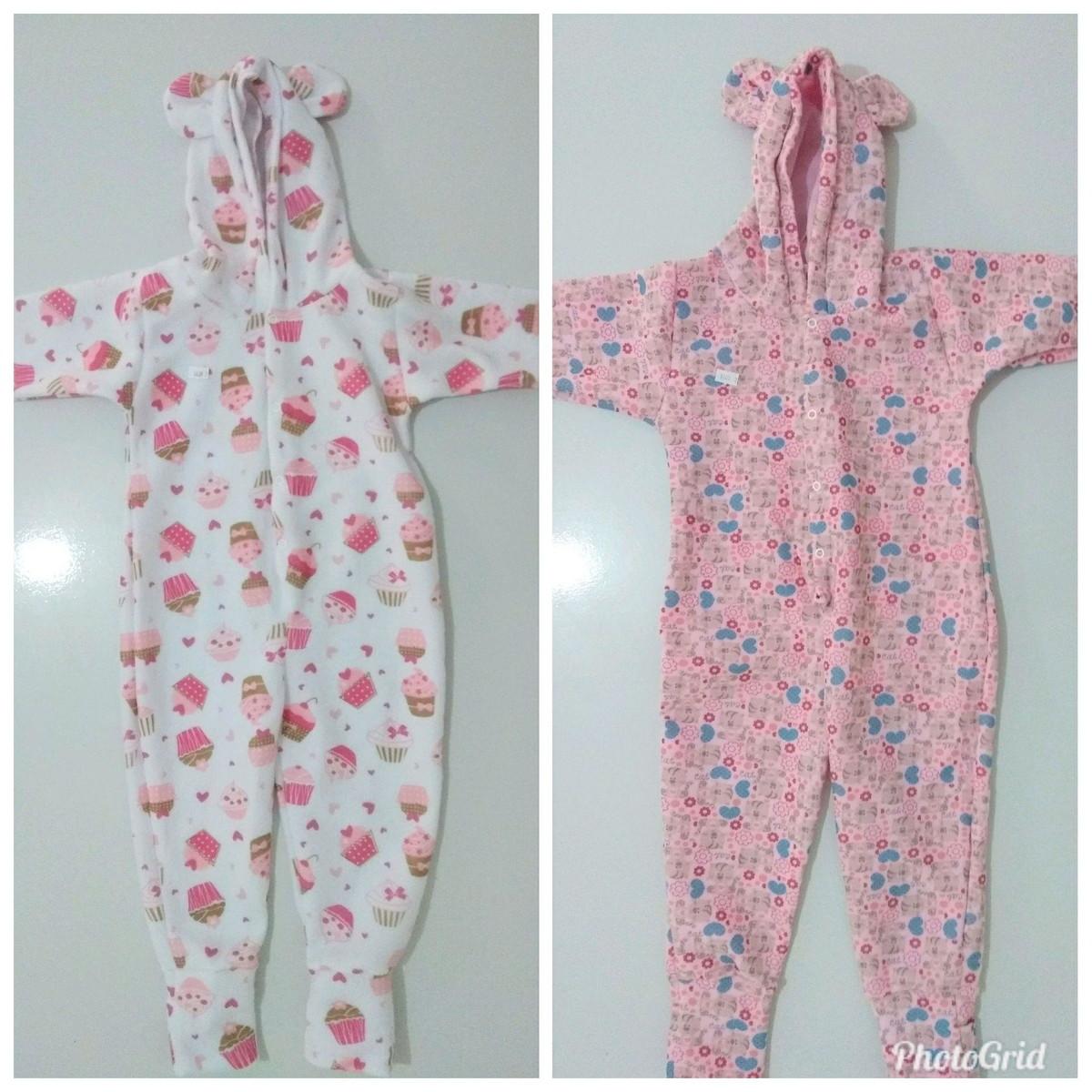 f94599a5dd50da Tam 1, 2, 3 Macacão pijama soft com capuz orelhinha feminino