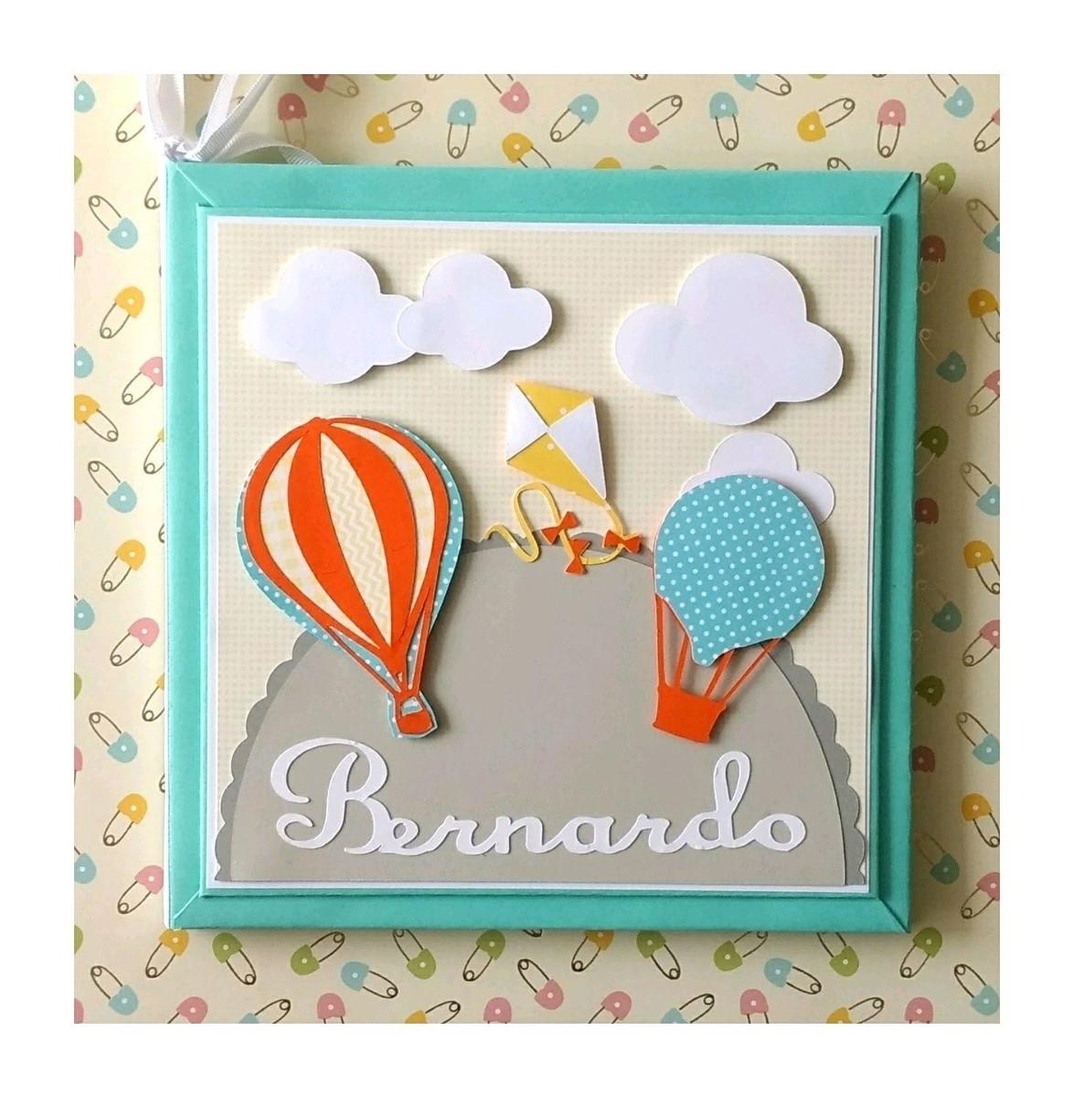 88a9a45cf livro diário bebê balões pipa candy colors menino scrapbook no Elo7 ...