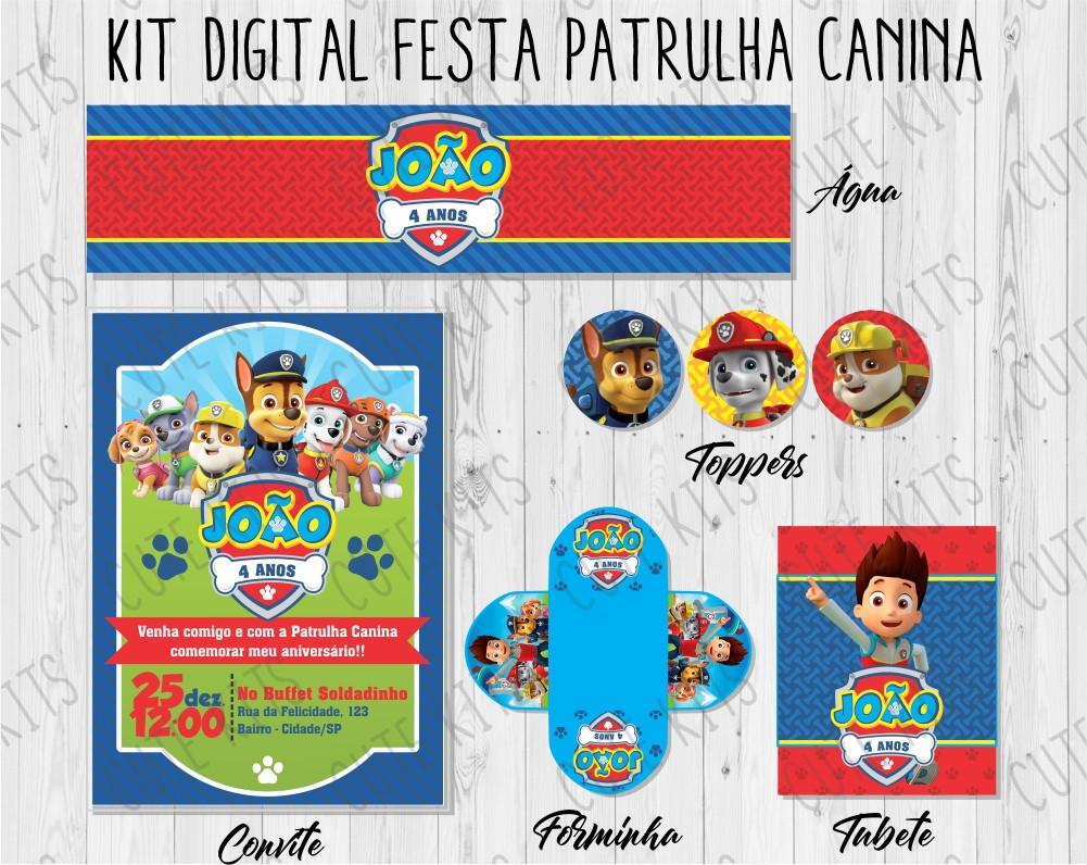 Kit Digital Festa Patrulha Canina No Elo7