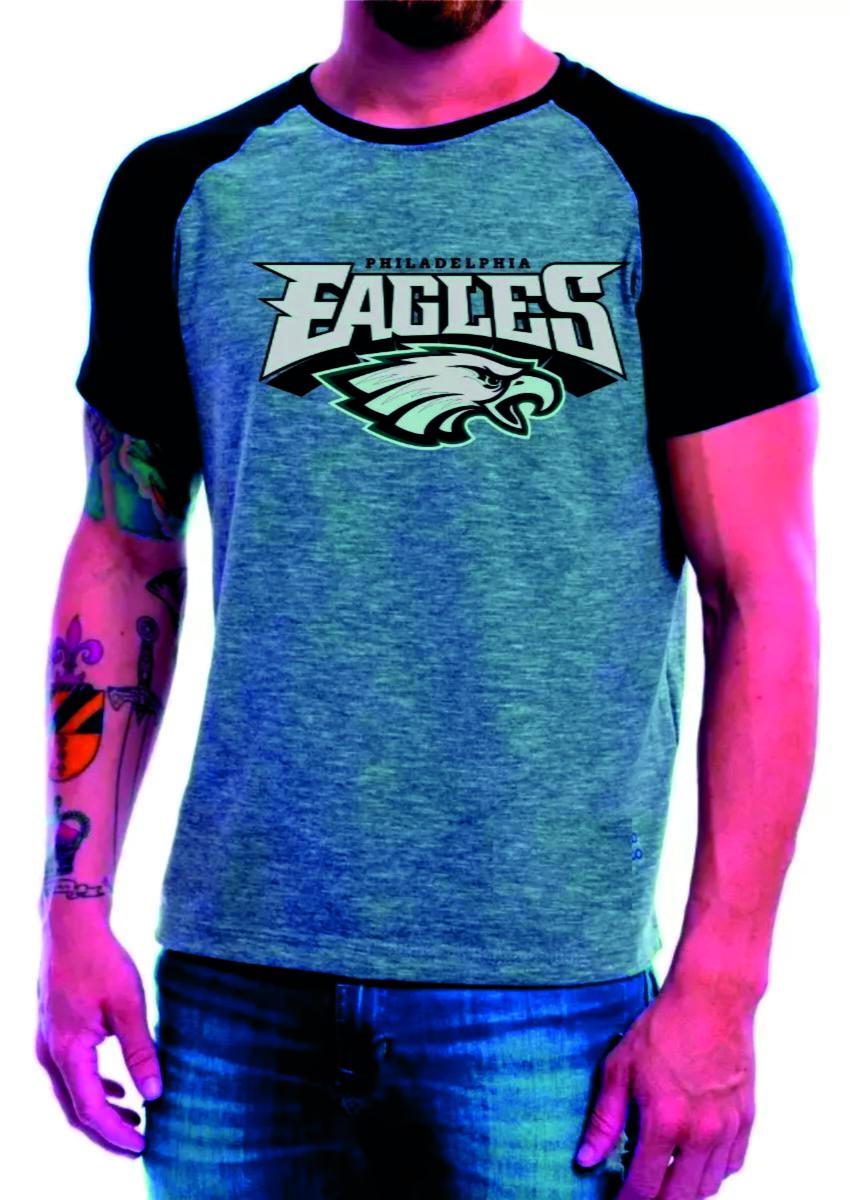 Camiseta Philadelphia Eagles Camisa Raglan Manga Curta Nfl no Elo7 ... 2996aafad60