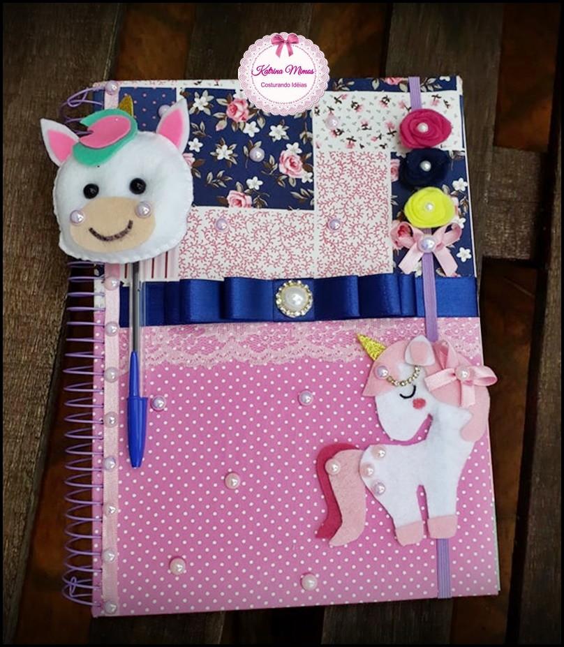 Caderno Customizado Unicórnio No Elo7 Katrina Mimos E Chinelos