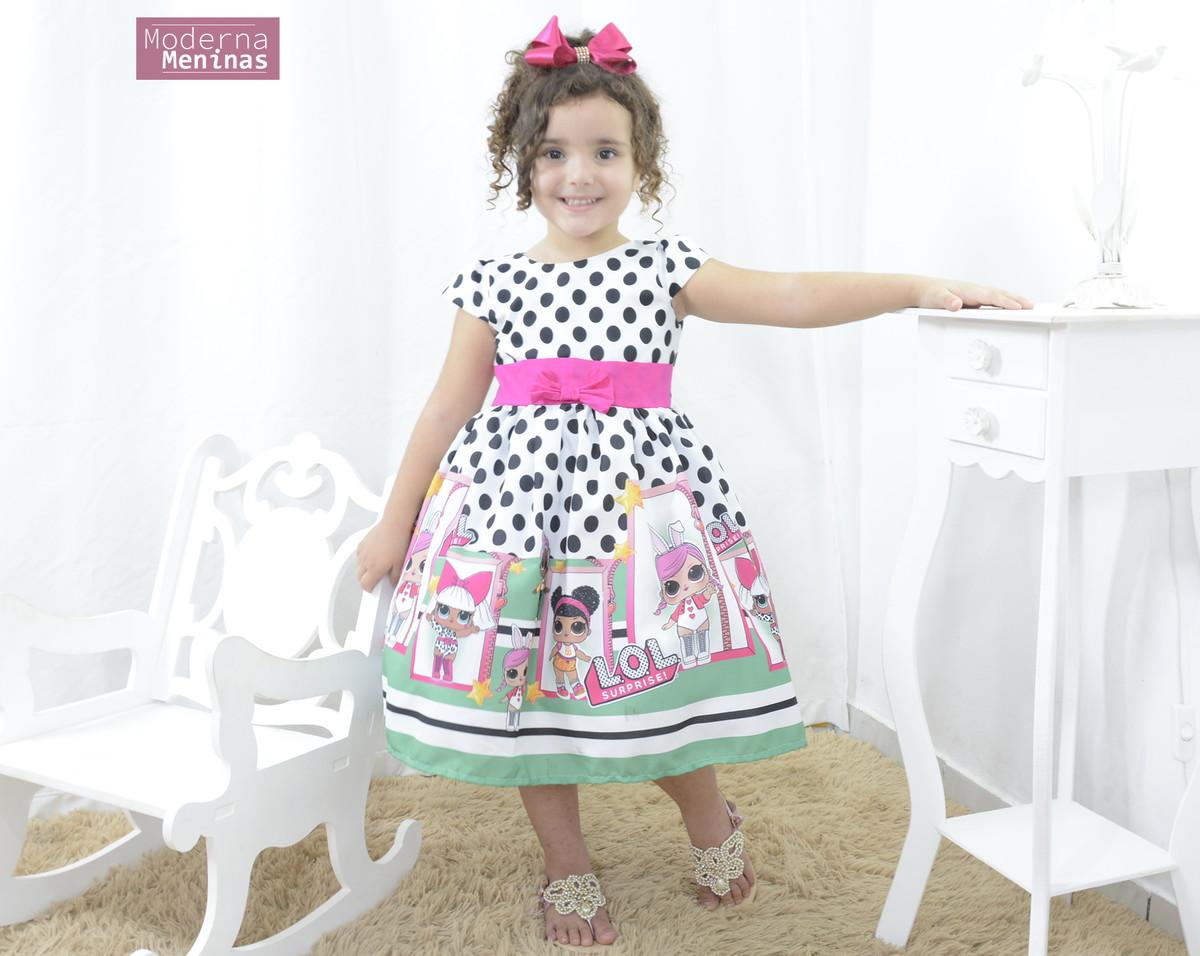 70afbc383f Vestido infantil festa tema das mínis bonecas Lol surprise no Elo7 ...