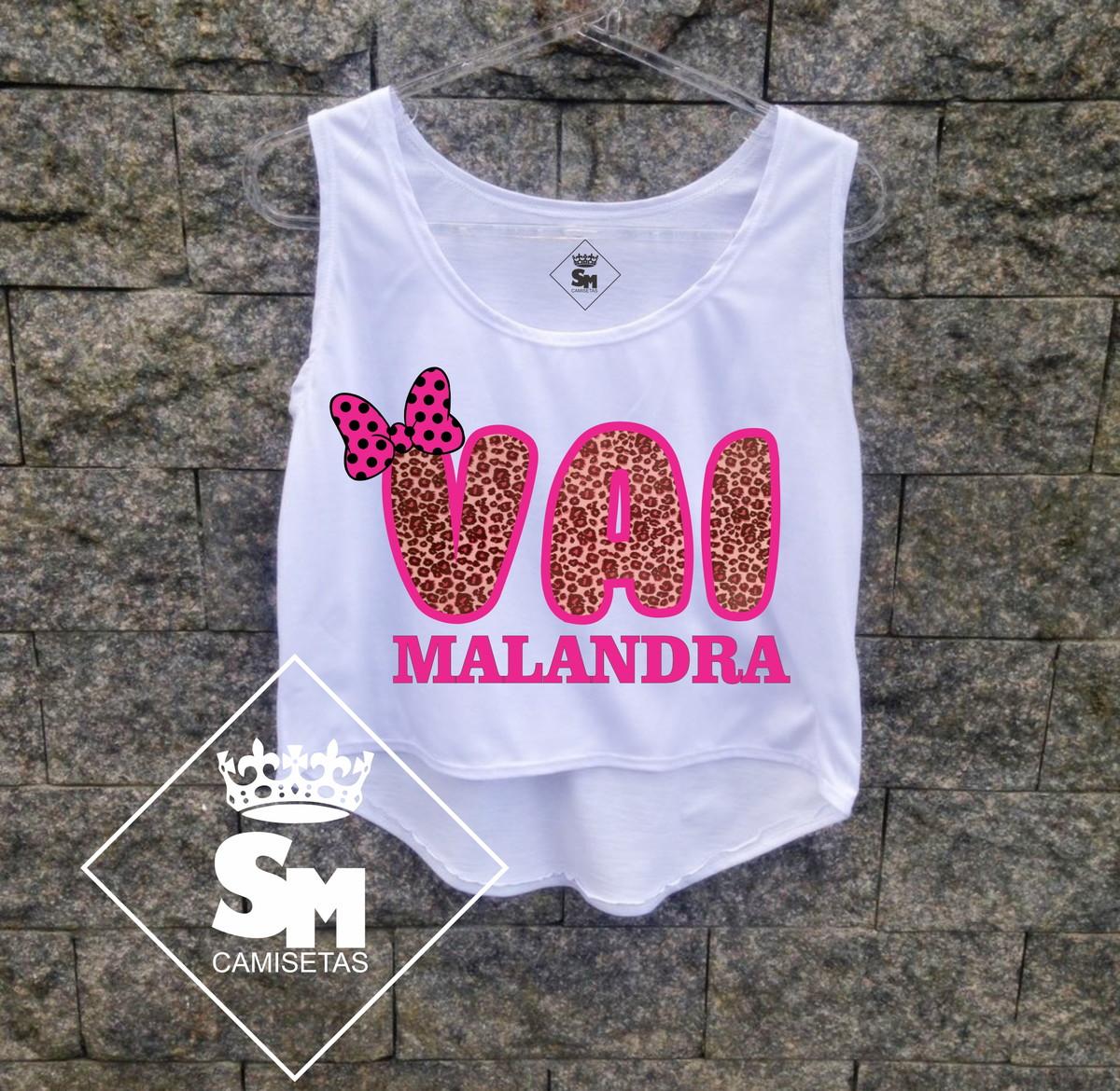 Cropped Vai Malandra Carnaval