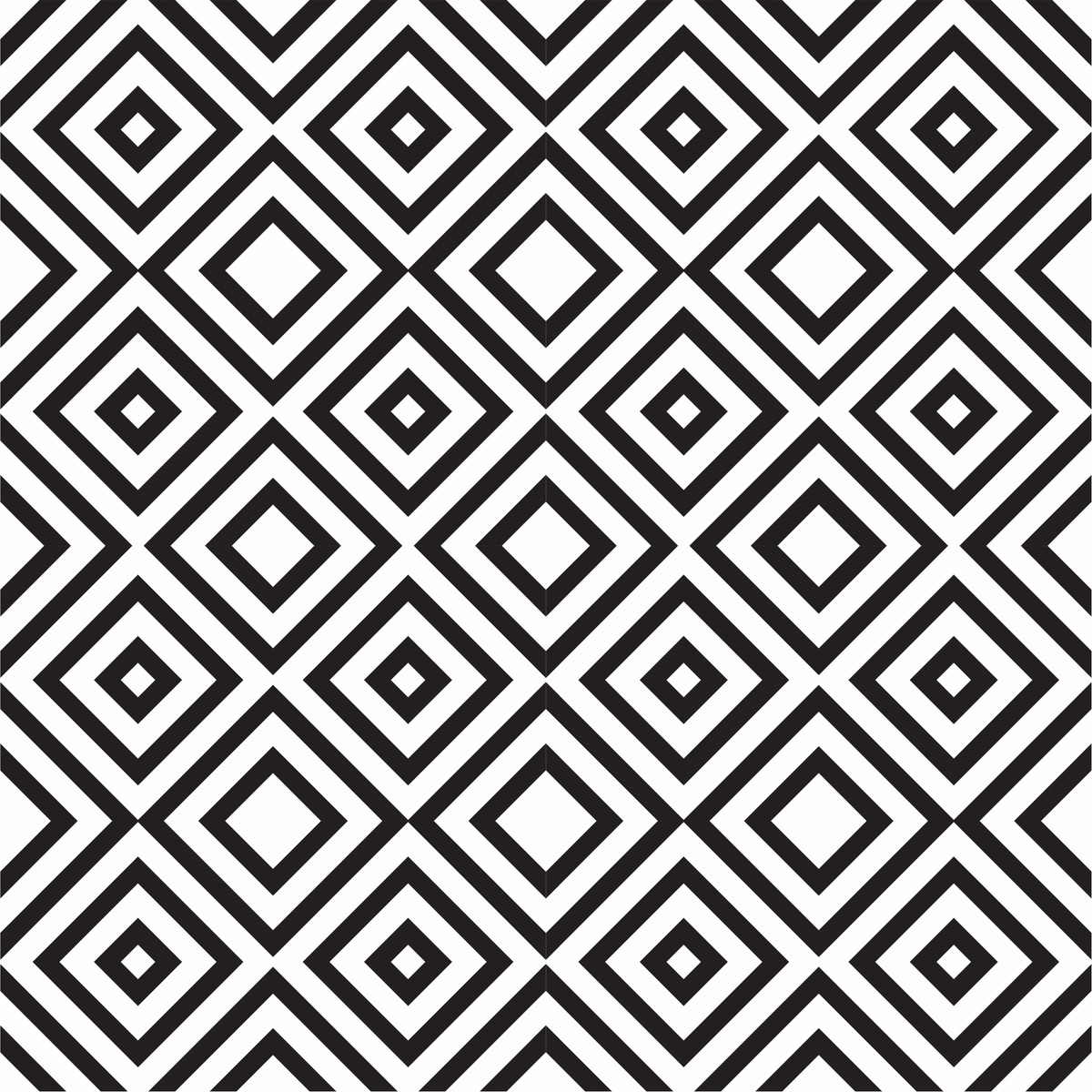 Adesivo papel de parede geom trico preto branco escolha - Papel de pared negro ...