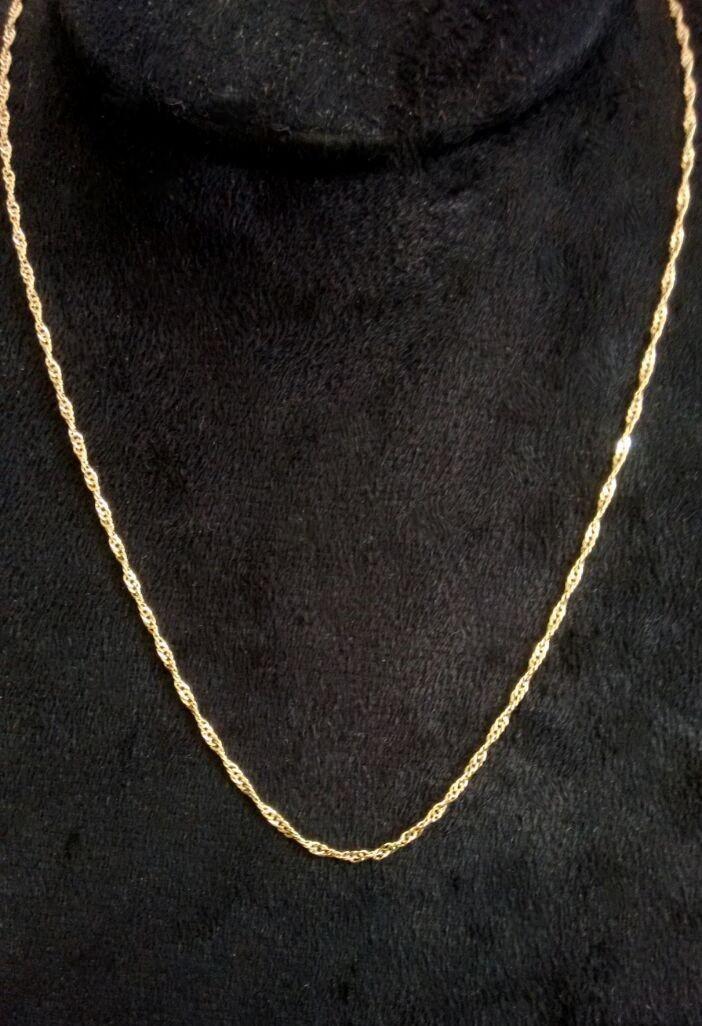 Corrente Singapura Feminina - 45 cm - Folheada a ouro no Elo7   MMR ... 404bcde98d