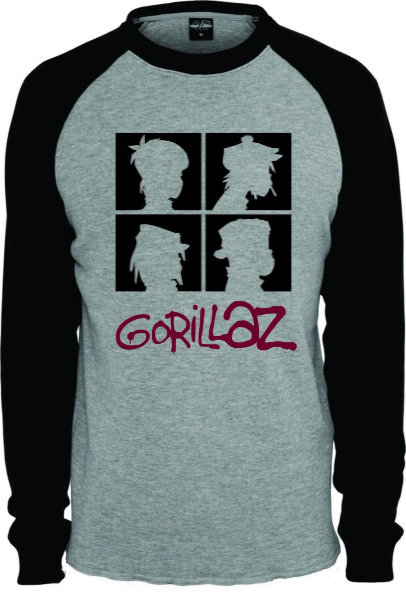Camisa Camiseta Banda Gorillaz  2 Raglan Longa no Elo7  7bb3483859f08