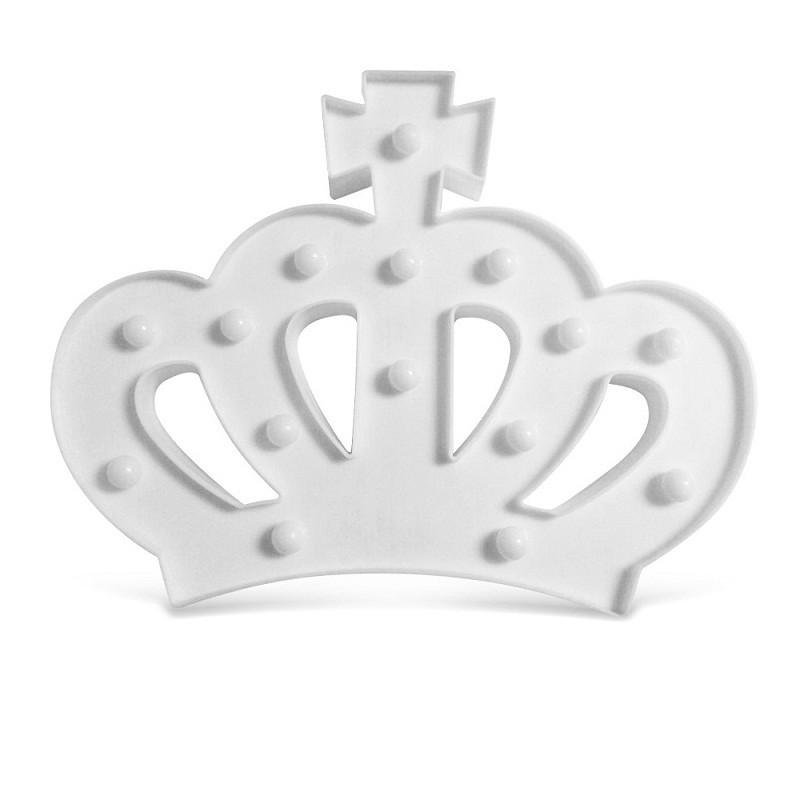 47746f4b5abbd Luminária Abajur de Led Coroa Branca Decoraçao Tema Princesa no Elo7 ...
