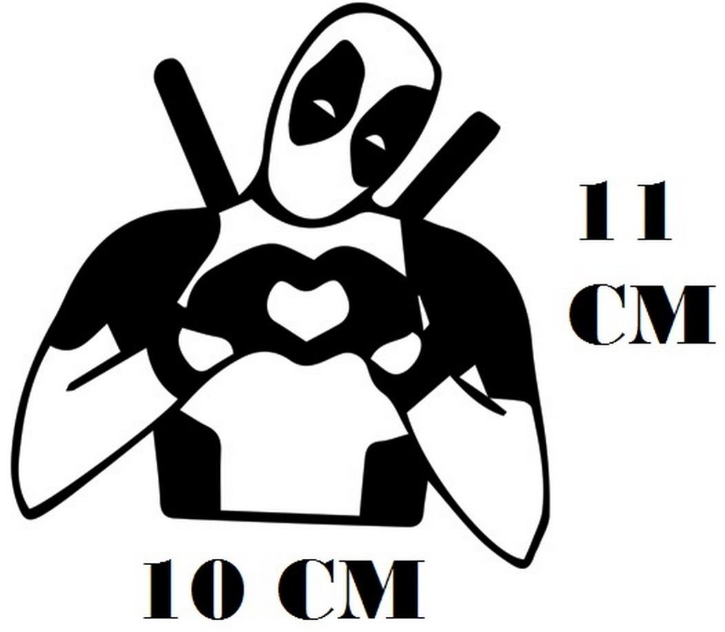 Adesivo Logo Deadpool Coração Frete Grátis