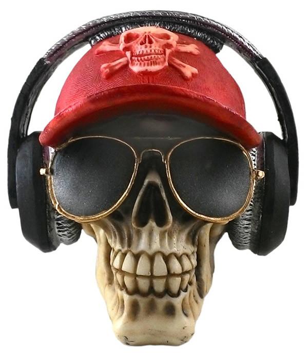 160991c1cb124 Cranio com ray ban - boné - fone ouvido Resina no Elo7
