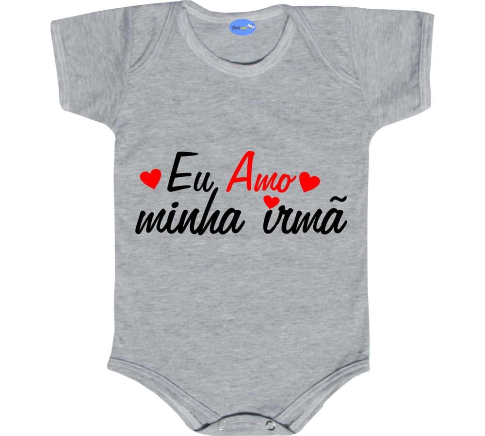 Body Bebê Frase Eu Amo Minha Irmã No Elo7 Loja Bebê Mel B52287