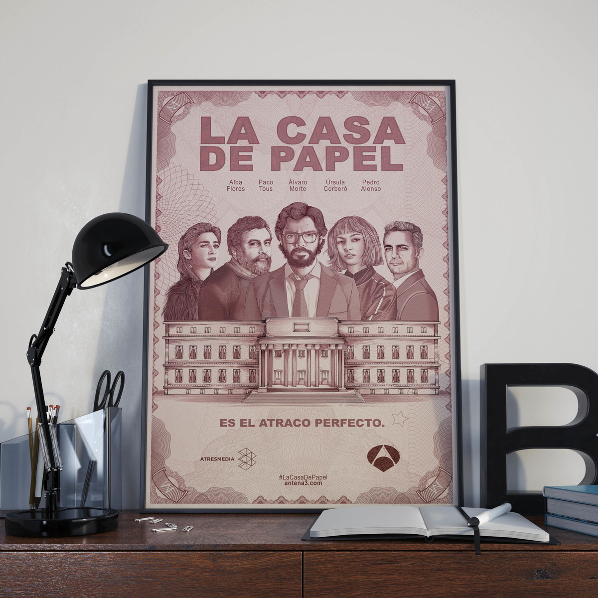 p ster la casa de papel imagine poster elo7. Black Bedroom Furniture Sets. Home Design Ideas