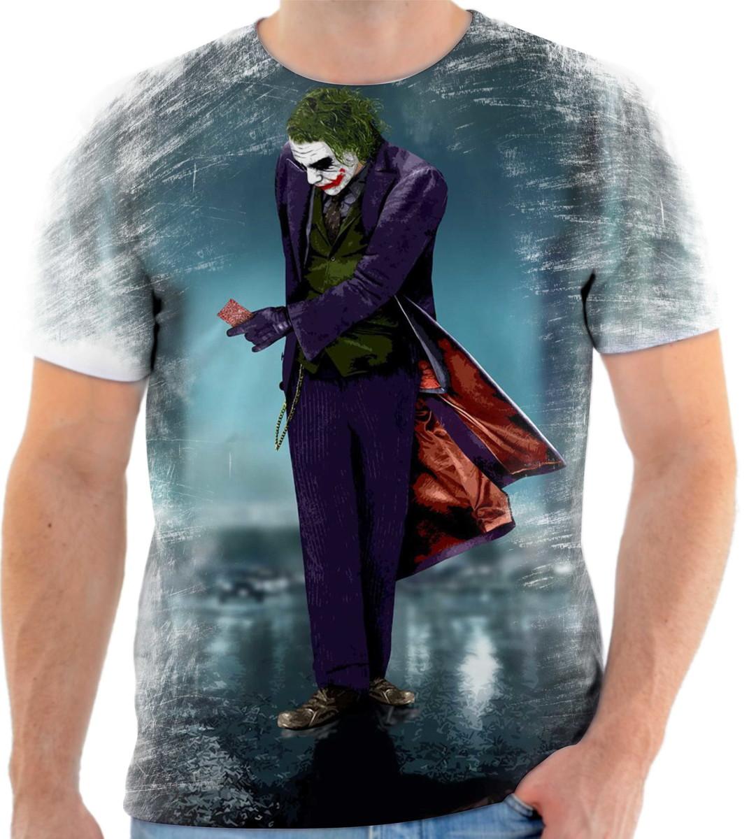 b18b8eee104c4 Camiseta Batman Coringa Herói 44 Ótima Qualidade no Elo7